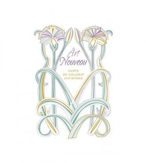 Art Nouveau, carte de colorat antistres, carte de lux