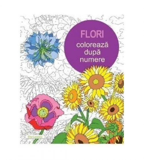 Flori. Coloreaza dupa numere