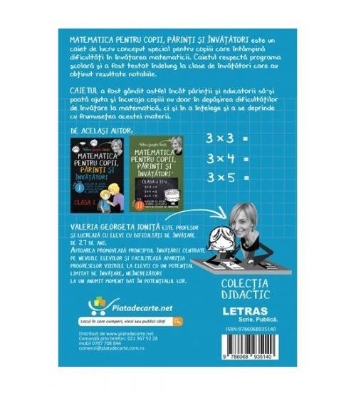 Matematica pentru copii, parinti si invatatori - auxiliar Clasa a III-a, caietul1