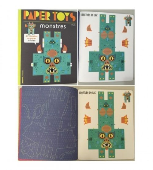 Papertoys: Monstri (copii 4+ ani)