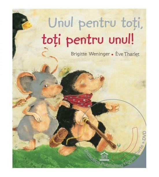 Unul pentru toti, toti pentru unul - poveste animata in 4 limbi