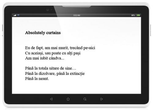 paginare eBook poezie