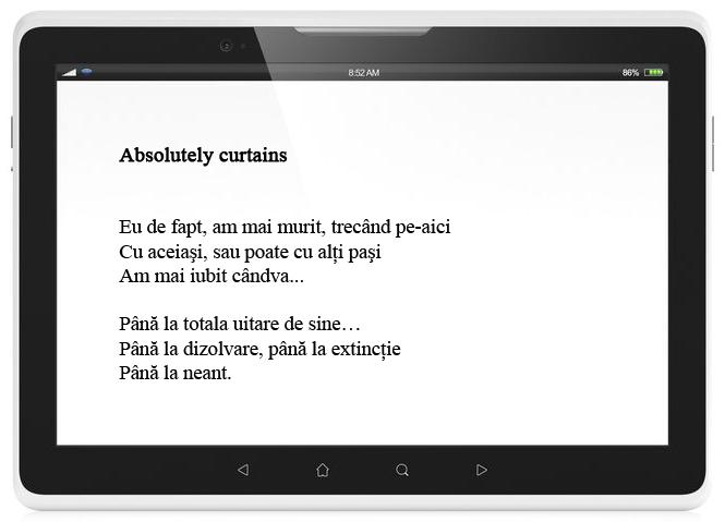 paginare eBook poezie