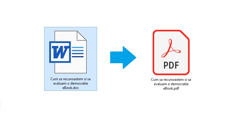 publicare carte - transforma Woed in PDF
