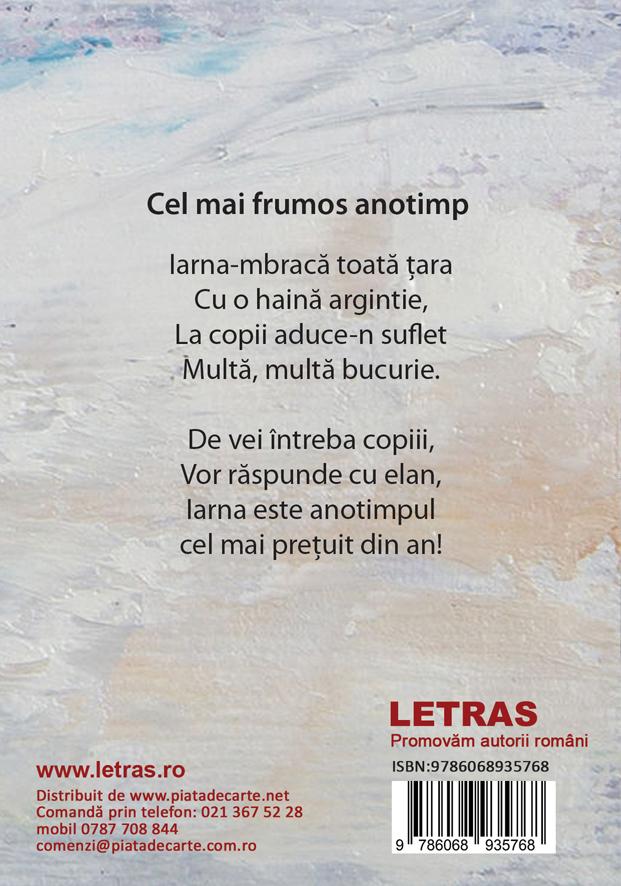 Iarna in versuri - poezii pentru copii - Elena Malea - Editura Letras
