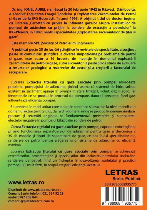 Extractia titeiului cu gaze asociate prin pompaj _ aurel Ionel - editura Letras 2019 -