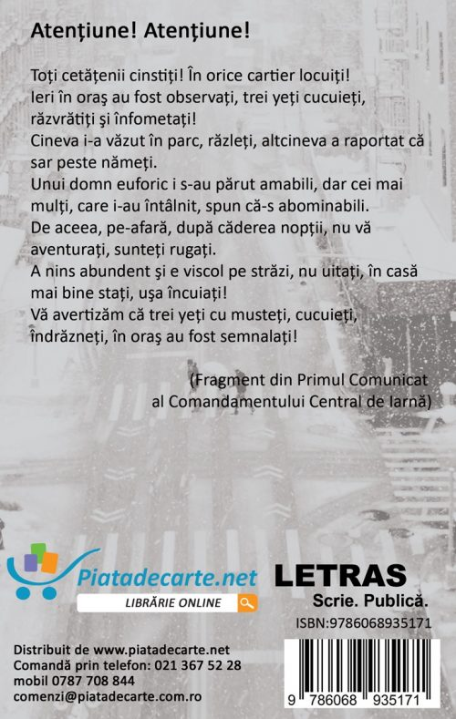 Trei yeti cucuieti - Ion-Daniel Pestrea - Editura Letras