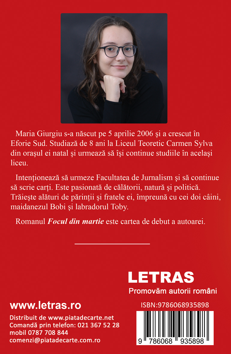 Focul din martie - Maria Giurugiu - Editura Letras - Promovăm autorii români