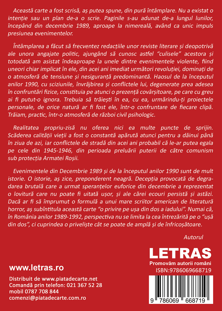 Ultimul Decembrie - Nicolae Balta - Editura Letras