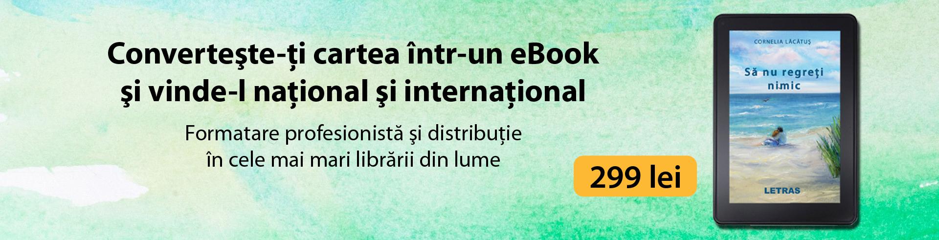 conversie si formatare eBook - Editura Letras