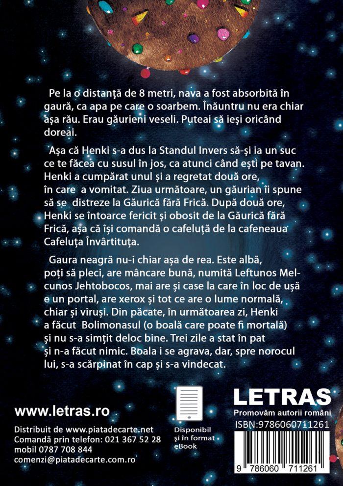 coperta 4 - Calatoria lui Henki in gaura neagra - Luca Porosnicu - Editura Letras