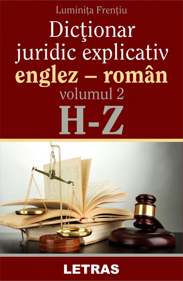 Frentiu Luminita_Dictionar juridic_vol 2_coperta
