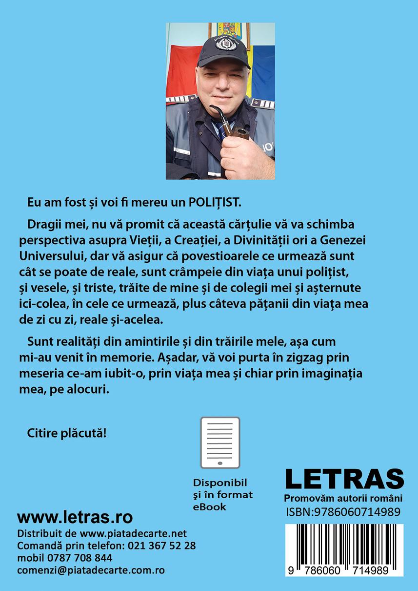 coperta 4 - Pe cuvant de politist - Iulian Florin Golita - Editura Letras 2021